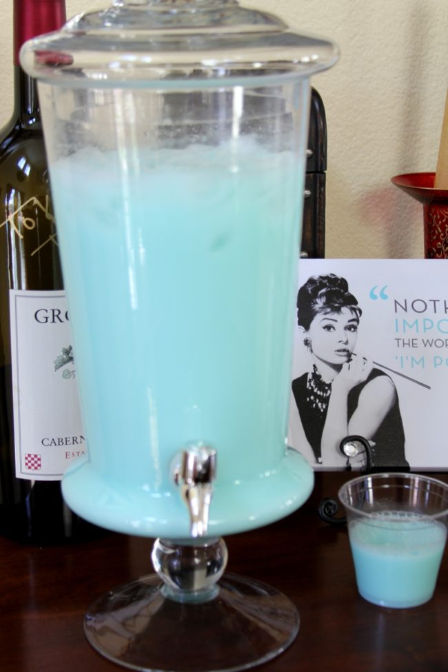 Breakfast At Tiffanys Party Punch
